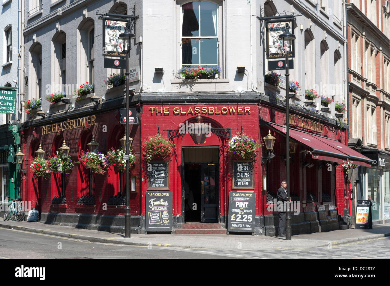 The Glassblower London Pub on Glasshouse Street London UK - Stock Image