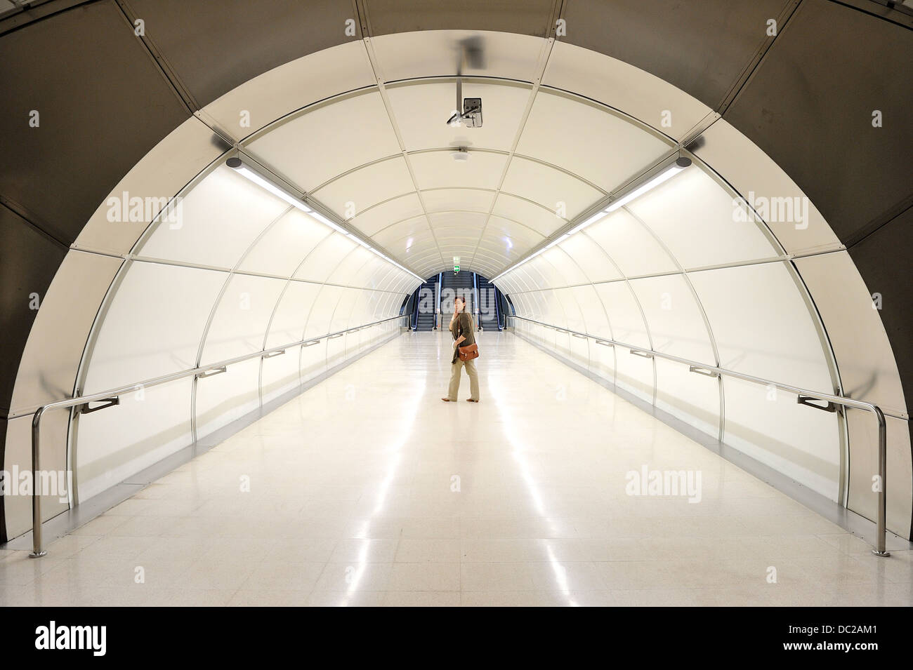 Intxaurrondo subway station, Donostia, Guipuzkoa, Basque Country, Spain, Europe, - Stock Image