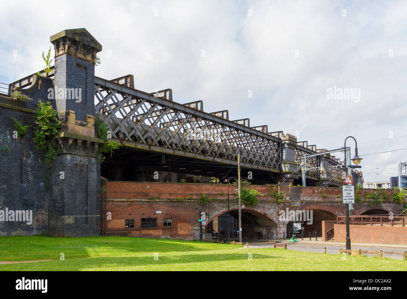 Cornbrook Viaduct in the Castlefield are of Manchester - Stock Image