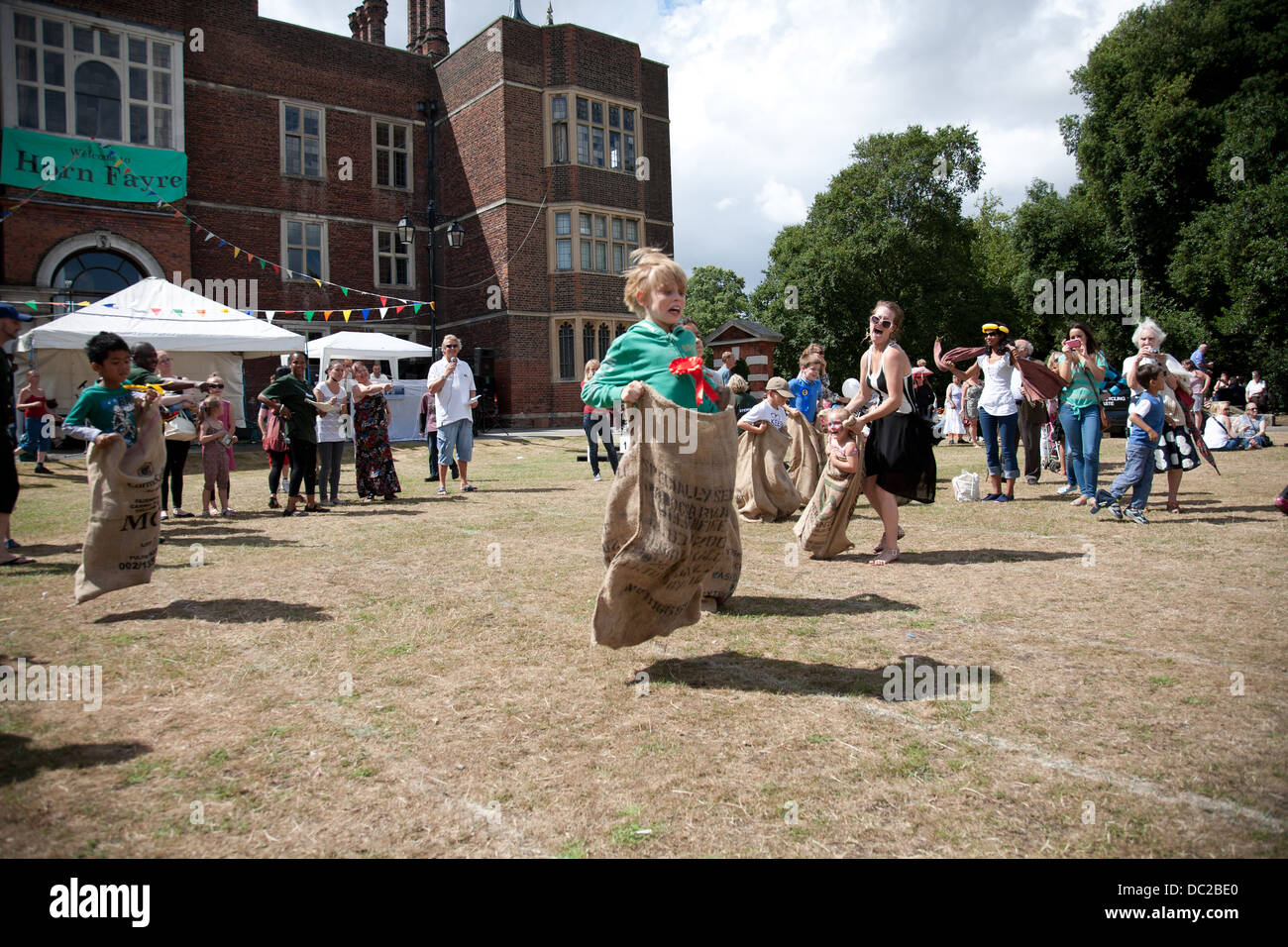 Events at The Charlton Horn Fair Greenwich London - Stock Image