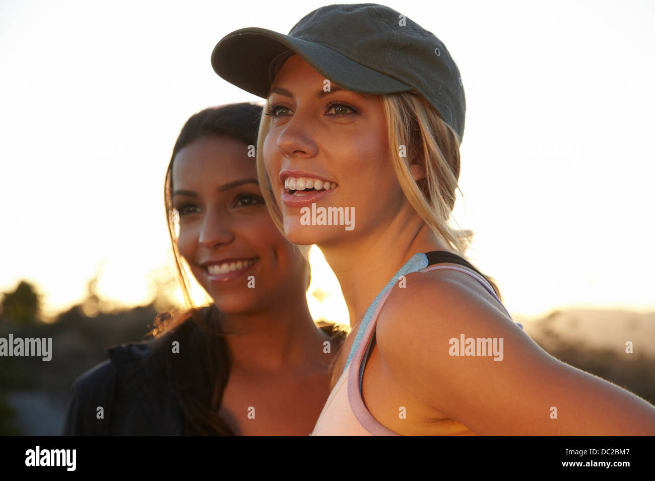 Women looking into the distance - Stock Image