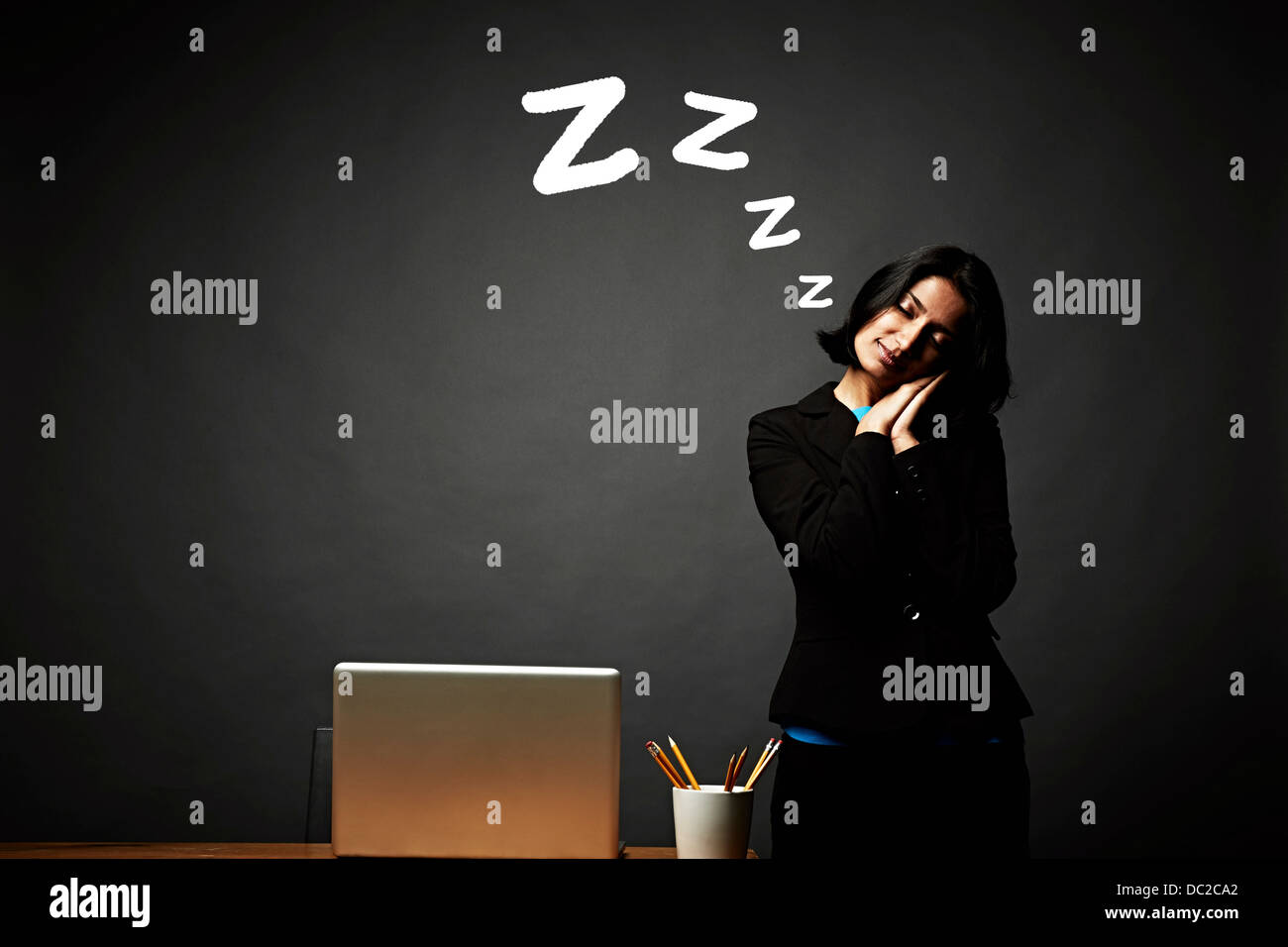 Woman in restful slumber - Stock Image