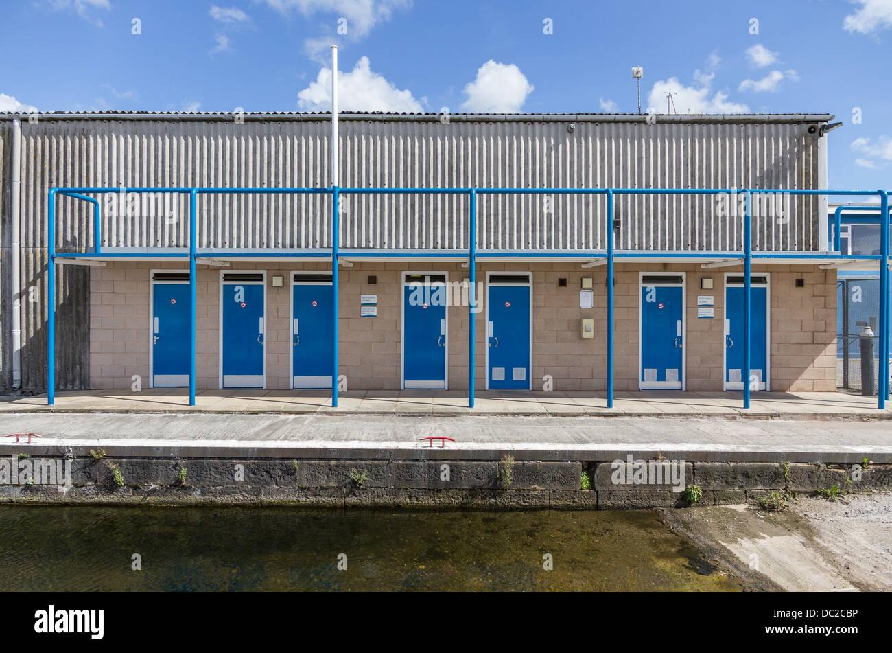 Berth Holder Facilities building at Glasson Basin, Glasson Dock, Lancaster, Lancashire. - Stock Image