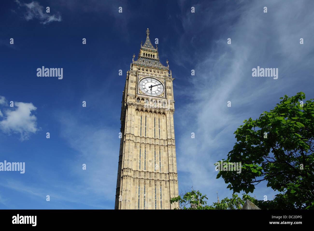 Elizabeth Tower or Big Ben, London, UK - Stock Image