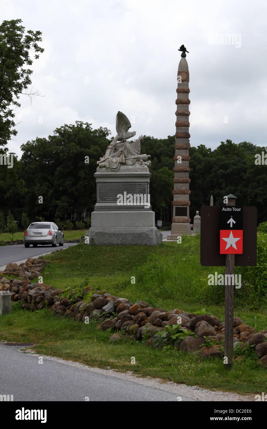 Gettysburg Auto Tour >> Sign Indicating Auto Tour Route Through Gettysburg