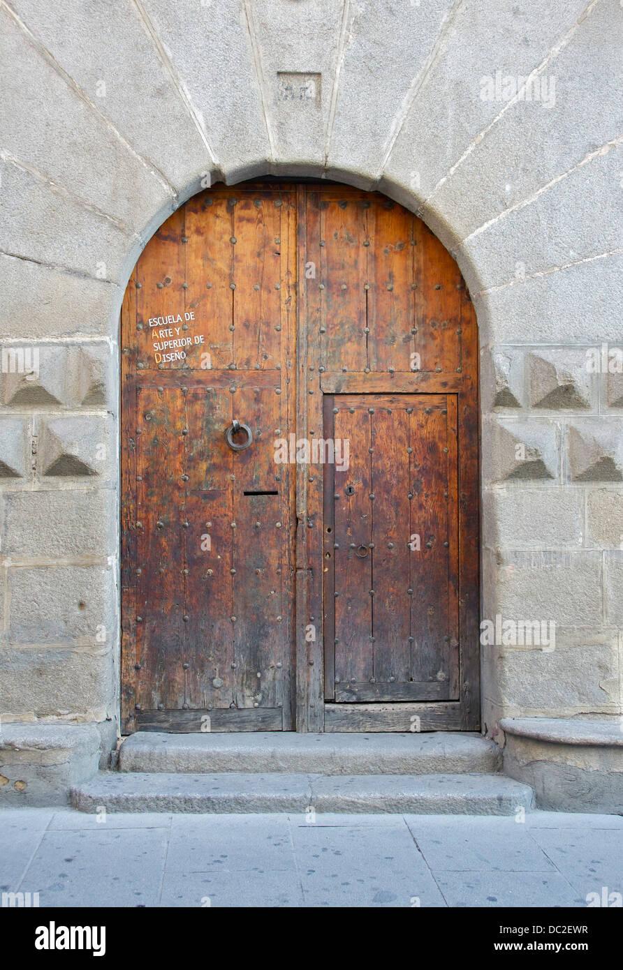Door of the 'Casa de los Picos', 15th-century, Segovia, Spain. - Stock Image