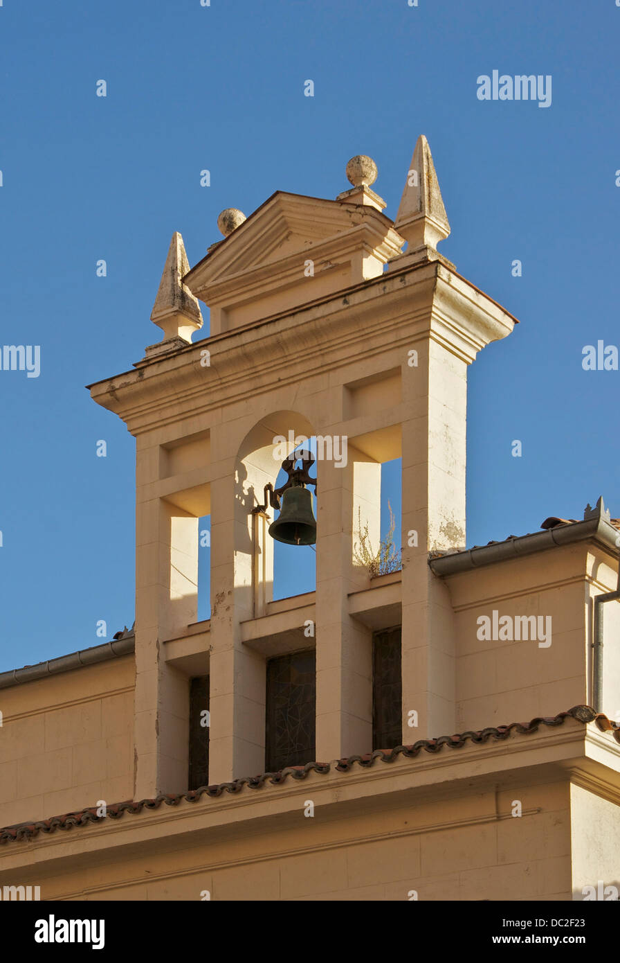 The bell gable of the Old main Synagogue (now a church) of Segovia, Spain. - Stock Image