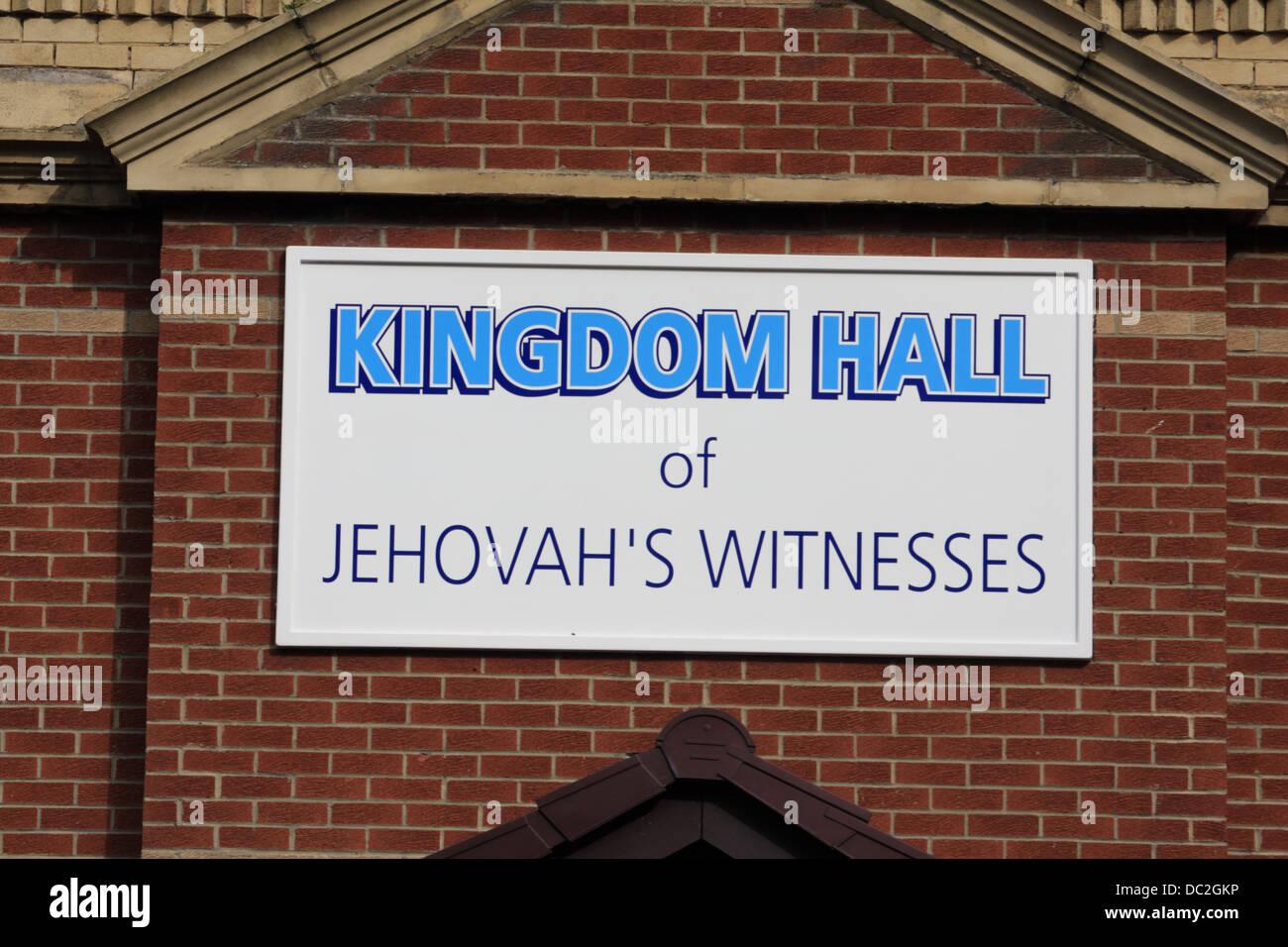 Kingdom Hall of Jehovah's witnesses, Sunderland, UK. - Stock Image