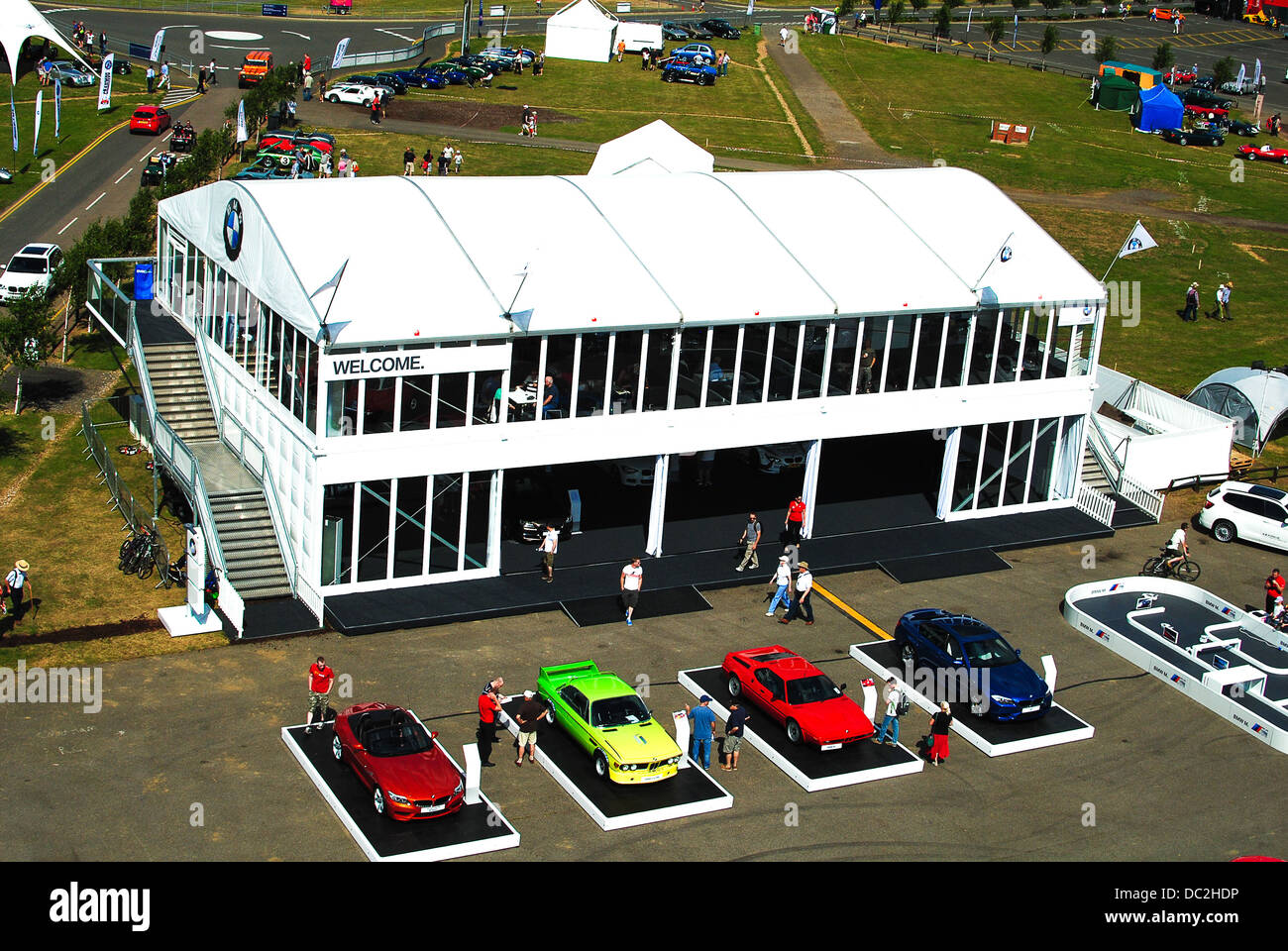 Aerial view of Silverstone race circuit - Stock Image