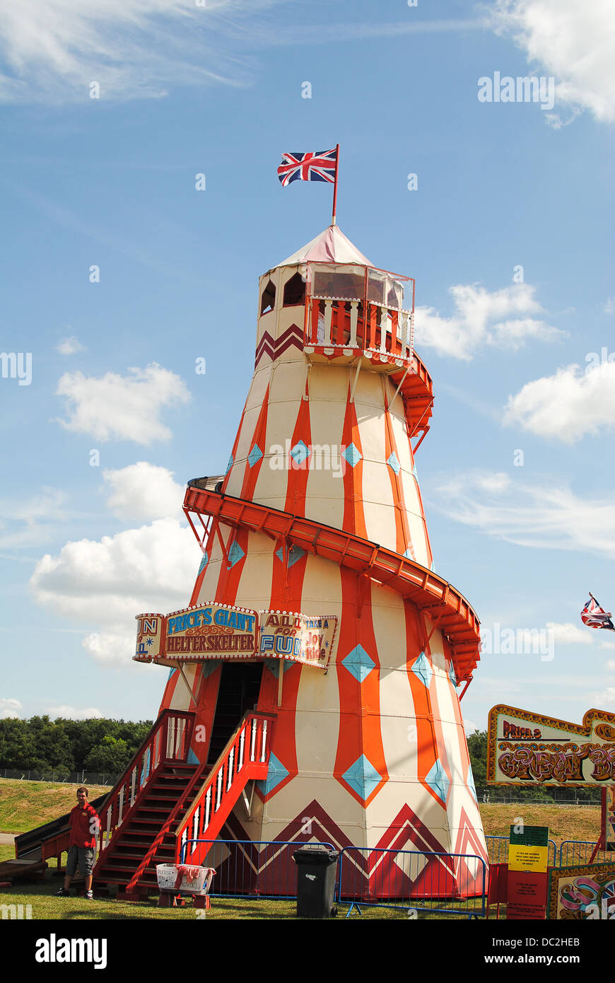 Helter skelter at Silverstone classic - Stock Image