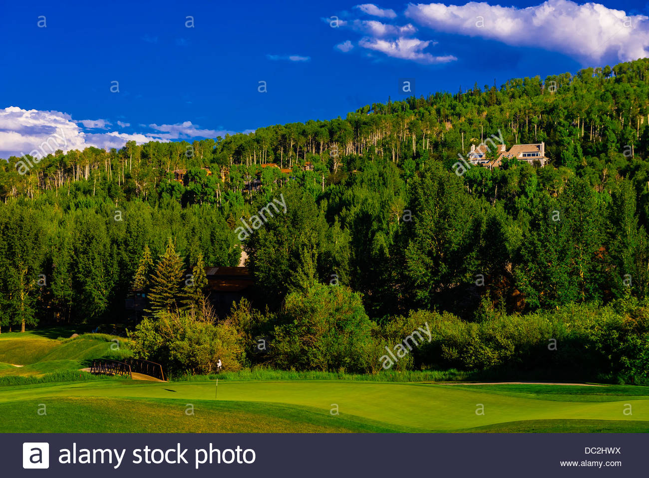Snowmass Club golf course, Snowmass Village (Aspen), Colorado USA. - Stock Image