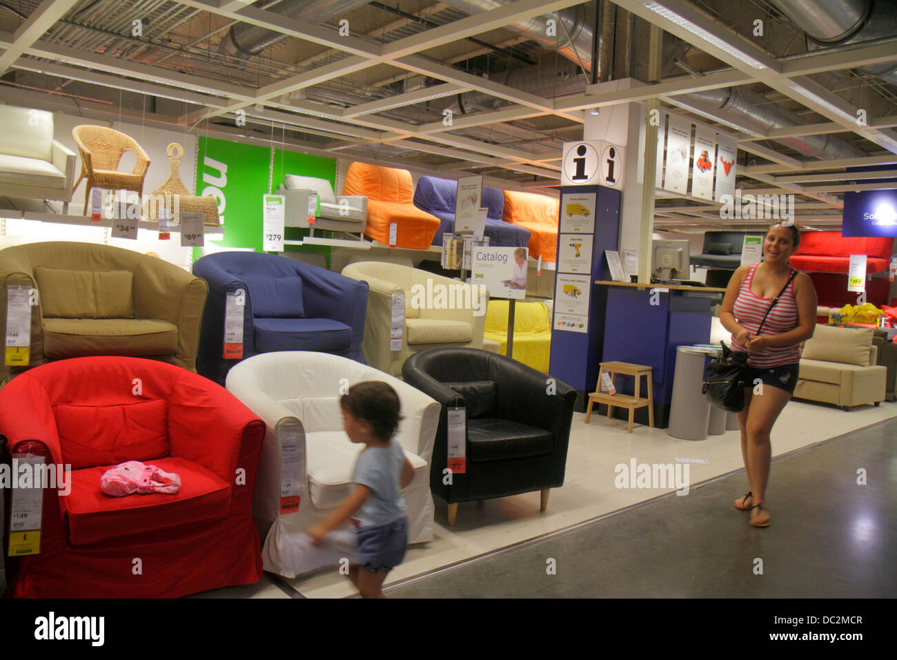 Florida sunrise fort ft lauderdale ikea home furnishings furniture shopping sale retail display chairs seating upholstered