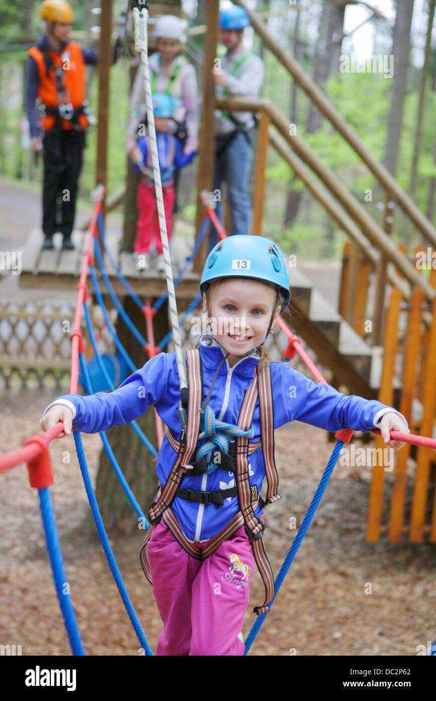 family trip to the climbing center - Stock Image