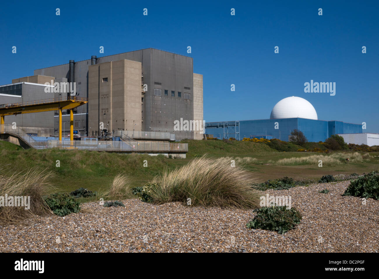Sizewell nuclear power station, Suffolk, East Anglia, England - Stock Image