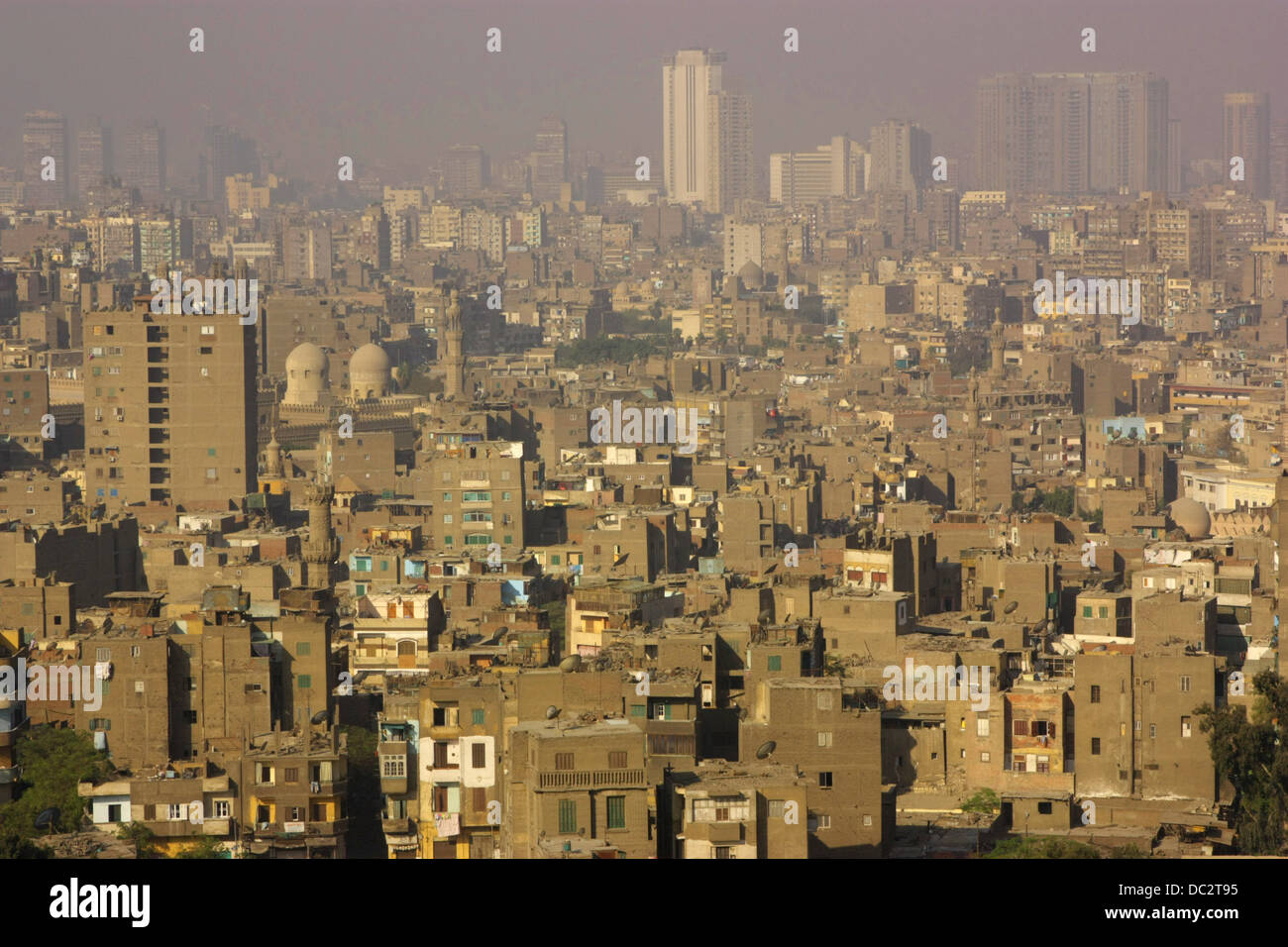 Cairo on hot day - Stock Image