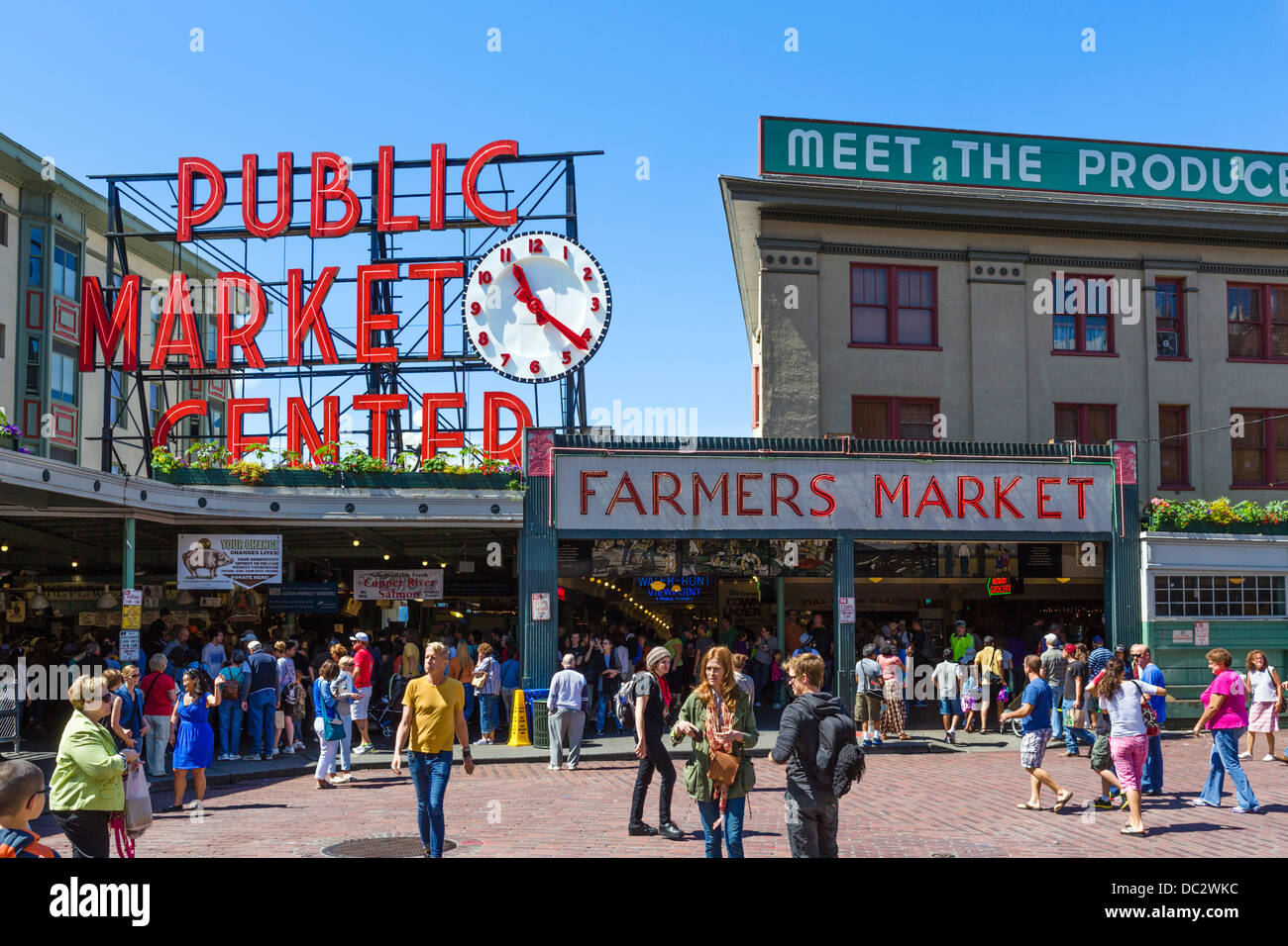 Pike Place Market in downtown Seattle, Washington, USA - Stock Image