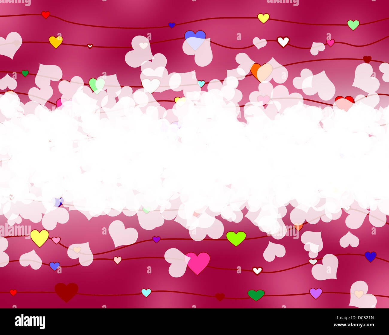 love hearts - Stock Image