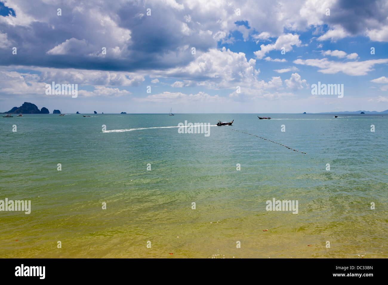 View onto the Ocean near Ao Nang, Thailand - Stock Image