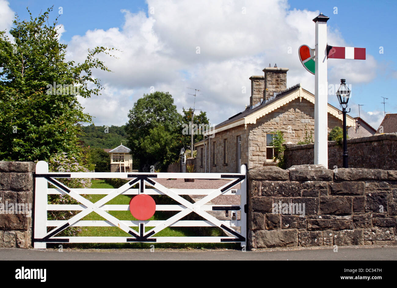 Belcoo and Blacklion railway station, disused, closed in 1950s, County Fermanagh, Northern Ireland, UK, Western - Stock Image