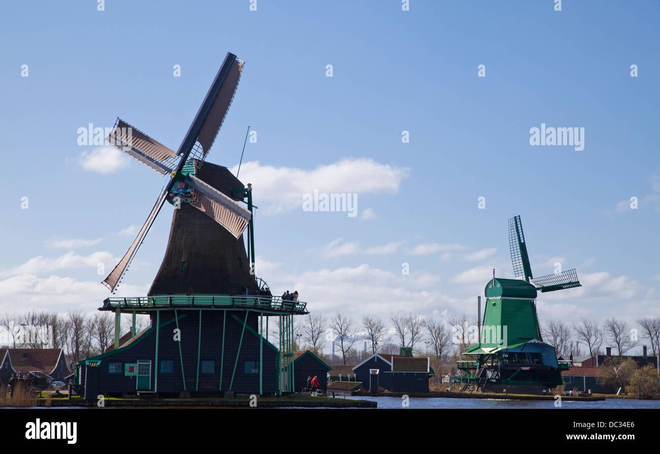 Europe,Netherlands,North Holland, Zaandam,Zaanse Schans, Stock Photo