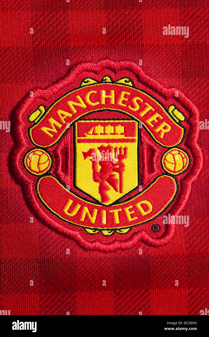 Manchester United Football Club Crest - Stock Image