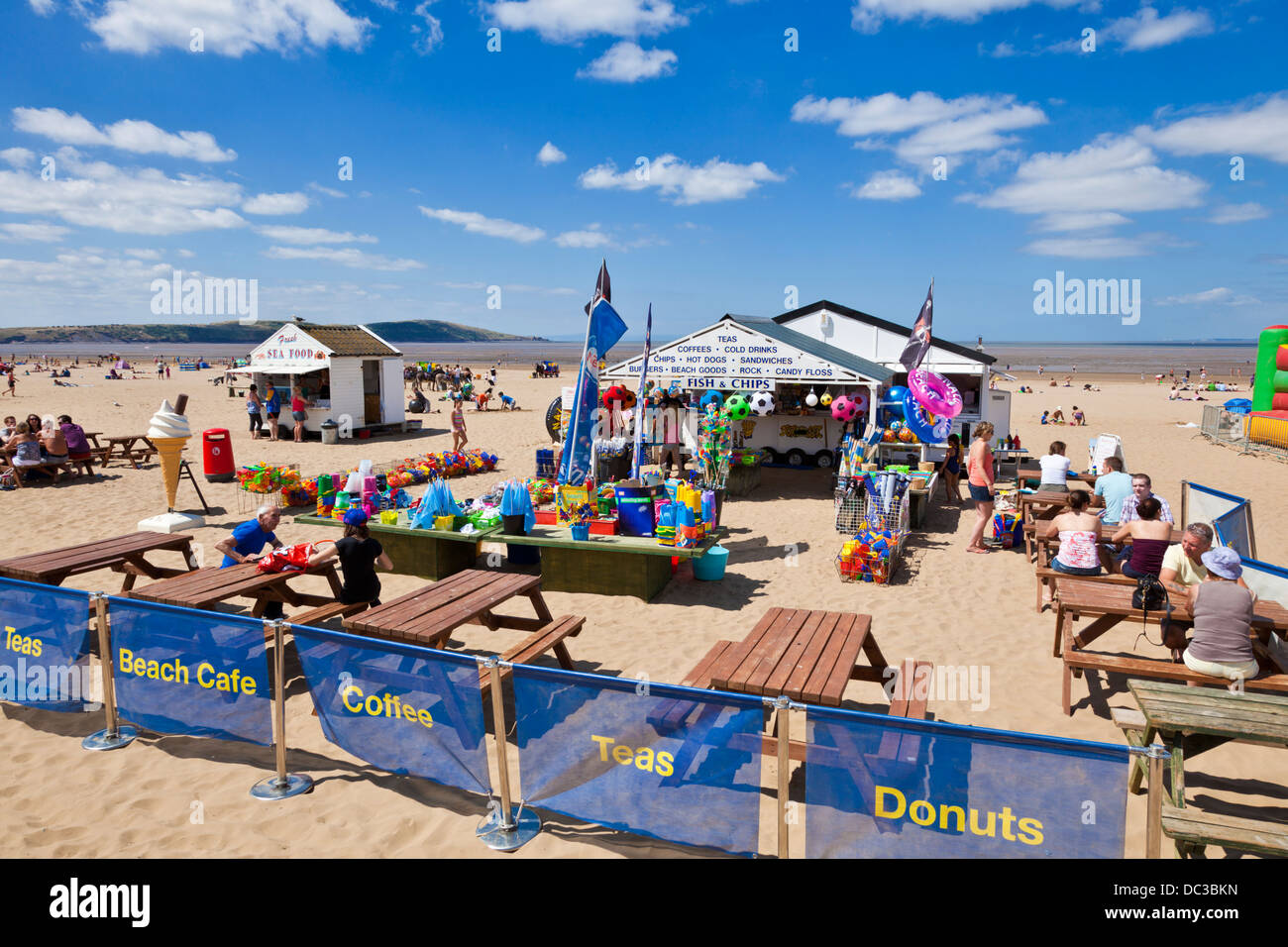 Weston Super Mare Beach Cafe Weston-Super-Mare Somerset England UK GB EU Europe - Stock Image