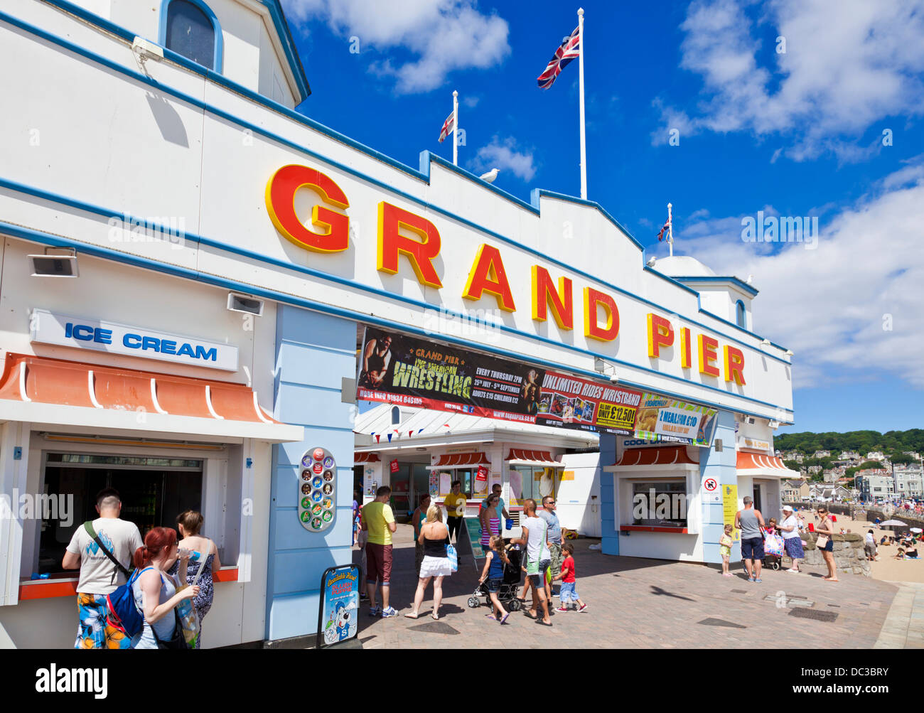 Weston Super Mare Grand Pier Weston-Super-Mare Somerset England UK GB EU Europe - Stock Image