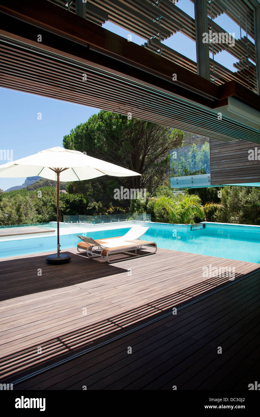 Swimming Pool, Lounge Chair, Umbrella