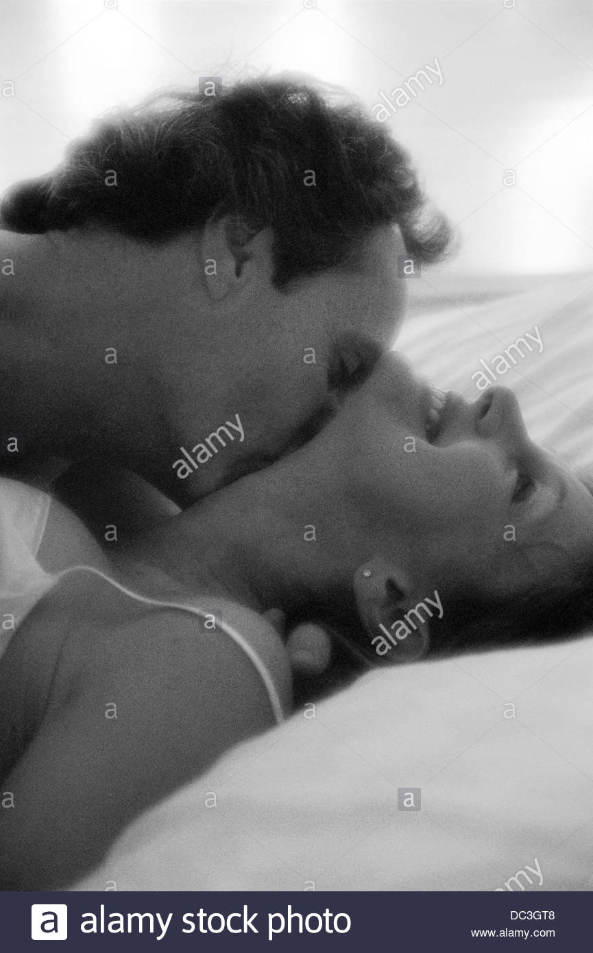 neck kiss in bed