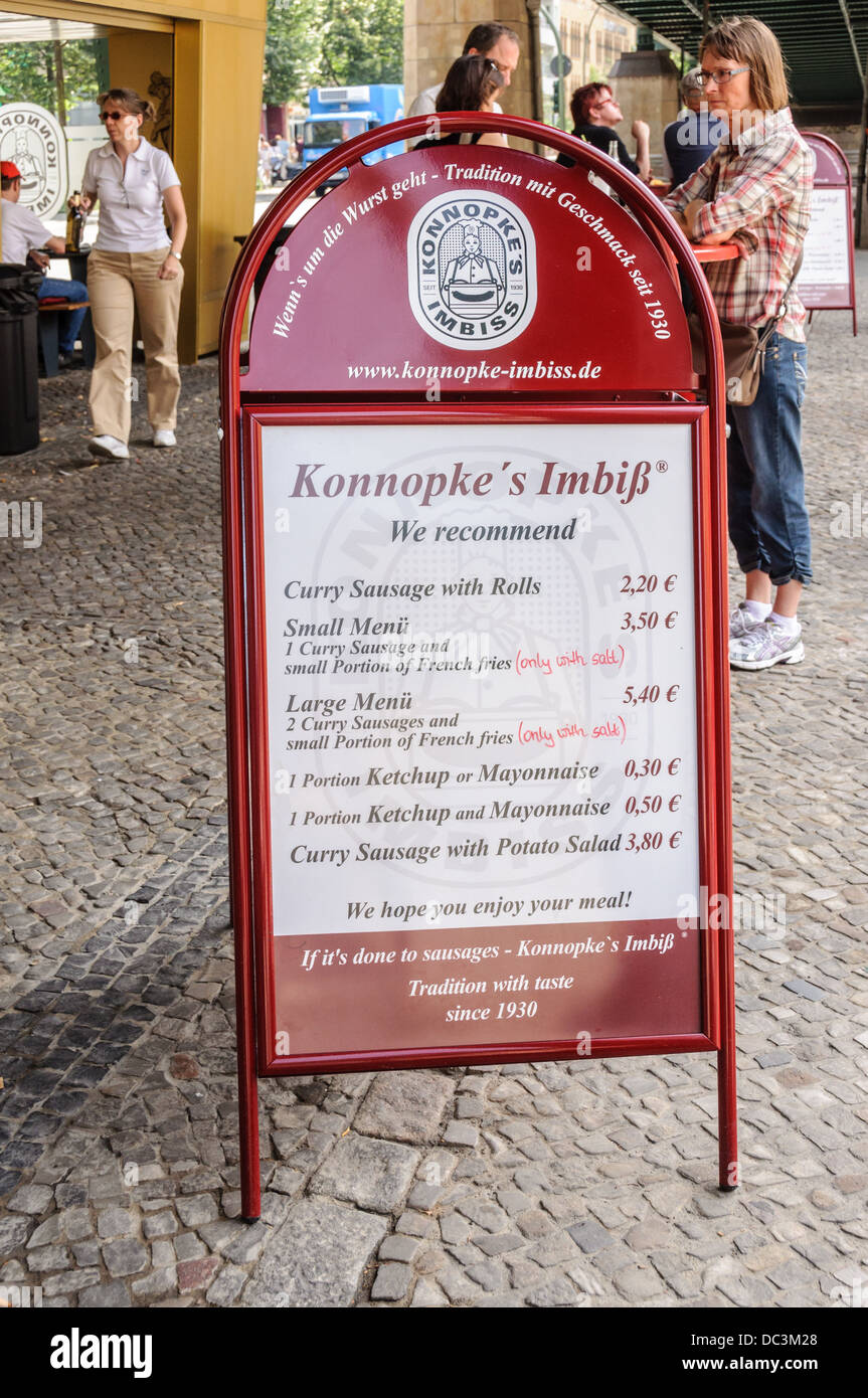 Konnopke´s Imbiss – famous snack bar in former East Berlin, Germany Stock Photo