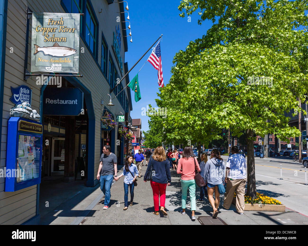 Shops And Restaurants On Alaskan Way At Pier 54 Downtown Seattle
