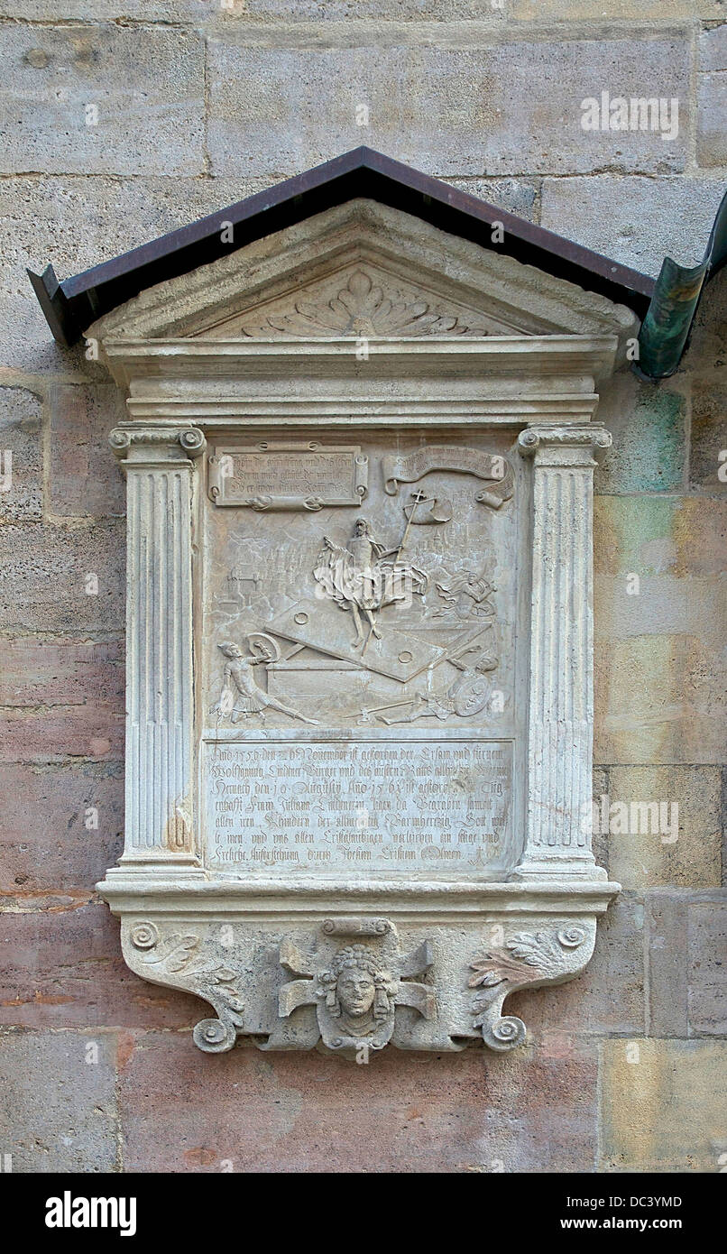 Epitaph (relief of the Resurrection of Christ) at the exterior walls of St.Stephen's Cathedral Vienna, Austria. - Stock Image