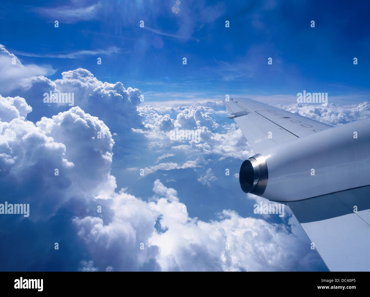 Clouds from ´Saab 2000 Cityliner´ - Stock Image