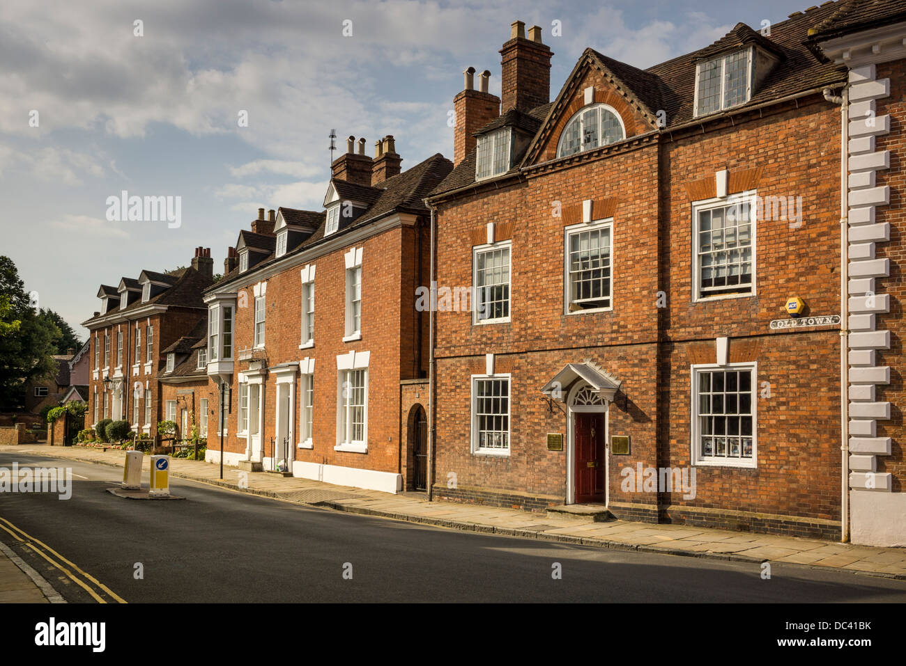BUILDINGS IN OLD TOWN STRATFORD  UPON AVON,OPPOSIRE HALLS CROFT,SHAKESPEARES SON IN LAW HOUSE, MEDICAL DOCTOR, Stock Photo