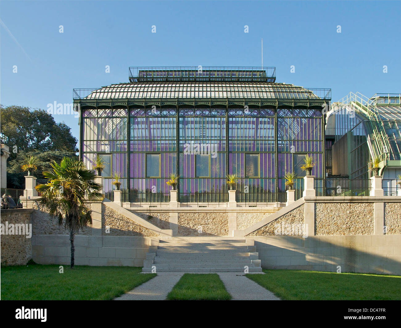 One of the most ancient greenhouses in the world (1834-1836. Restoration 2010. Architect was Charles Rohault de - Stock Image