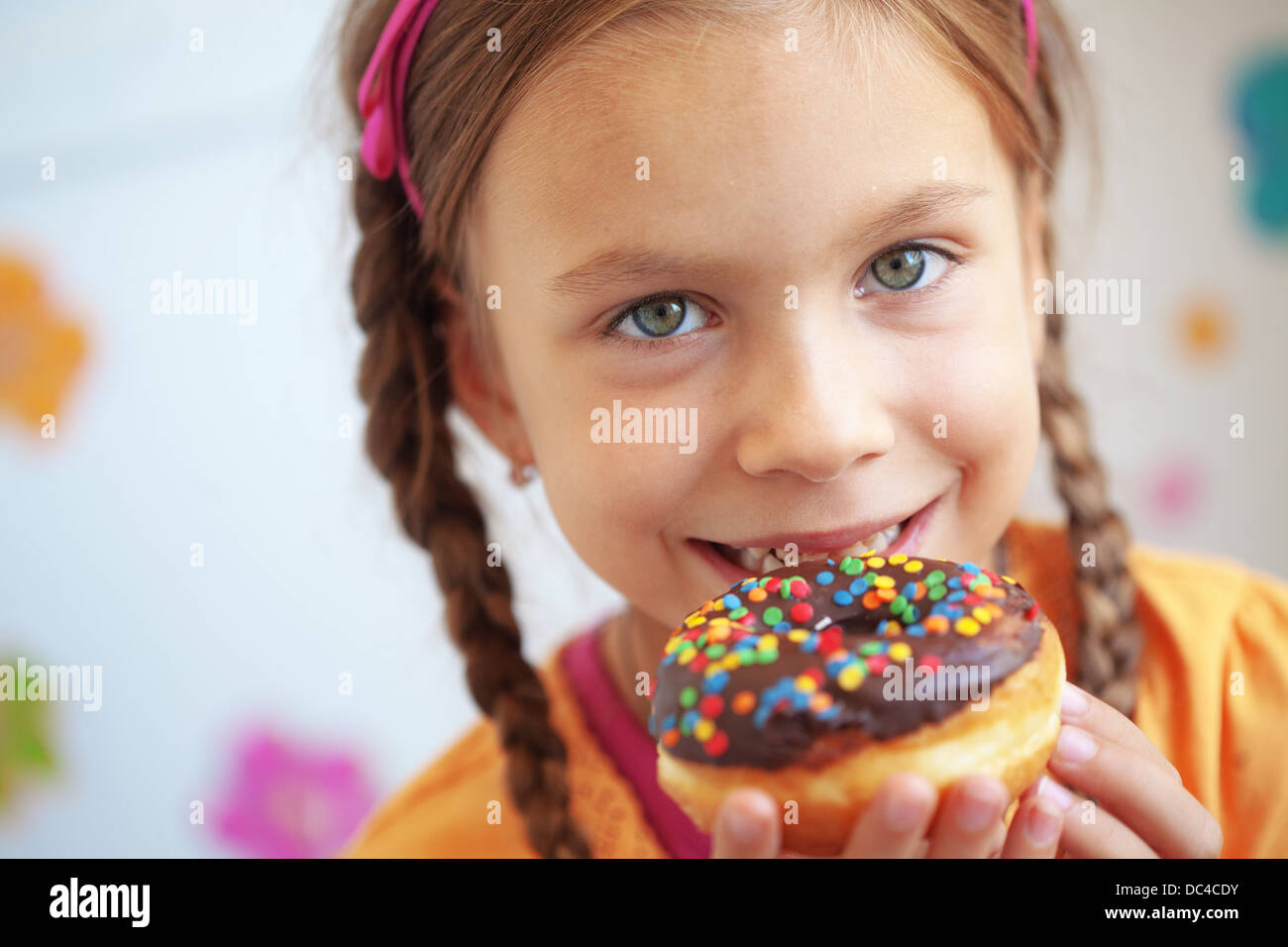 Fat Child Eating Sweets Stock Photos Fat Child Eating Sweets Stock