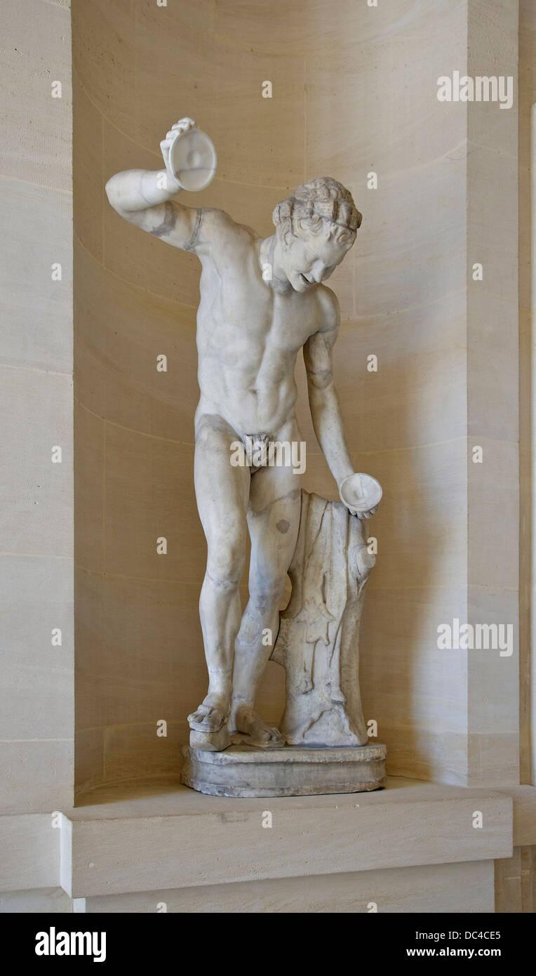 Dancing Satyr Versailles lower gallery - Stock Image
