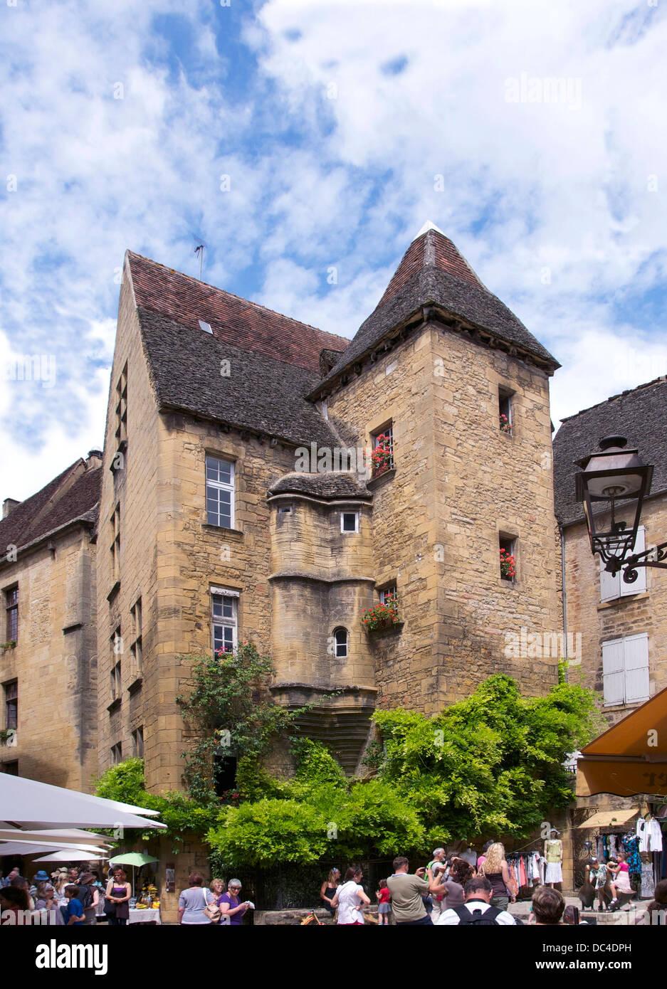 Hôtel de Vassal, 15th century, Sarlat-la-Canéda, Dordogne, France. - Stock Image
