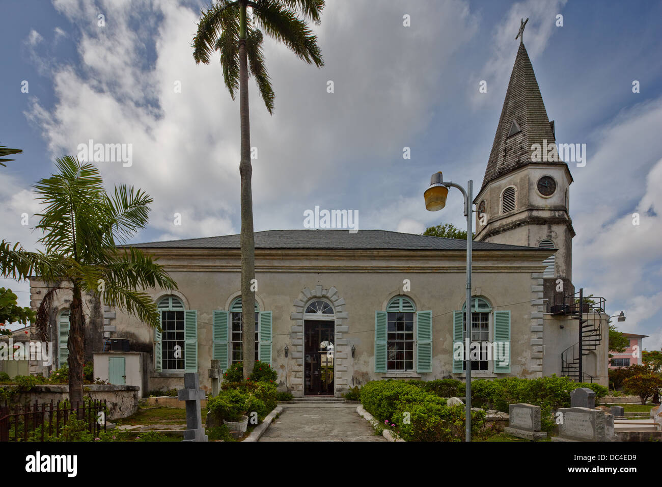 St Matthews Anglican Church, Nassau, New Providence Island, Bahamas - Stock Image