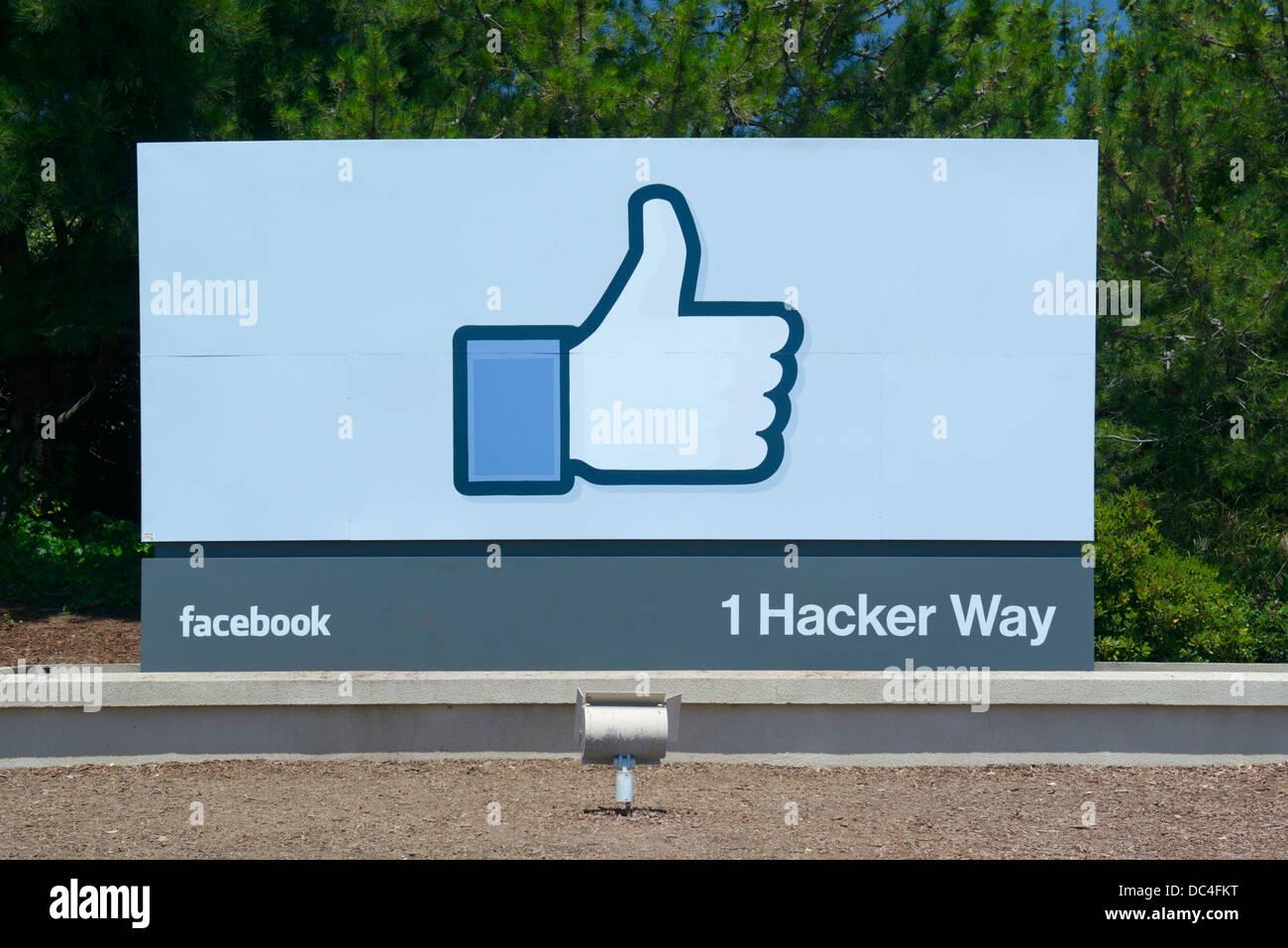 Facebook corporate headquarters, Menlo Park - Stock Image