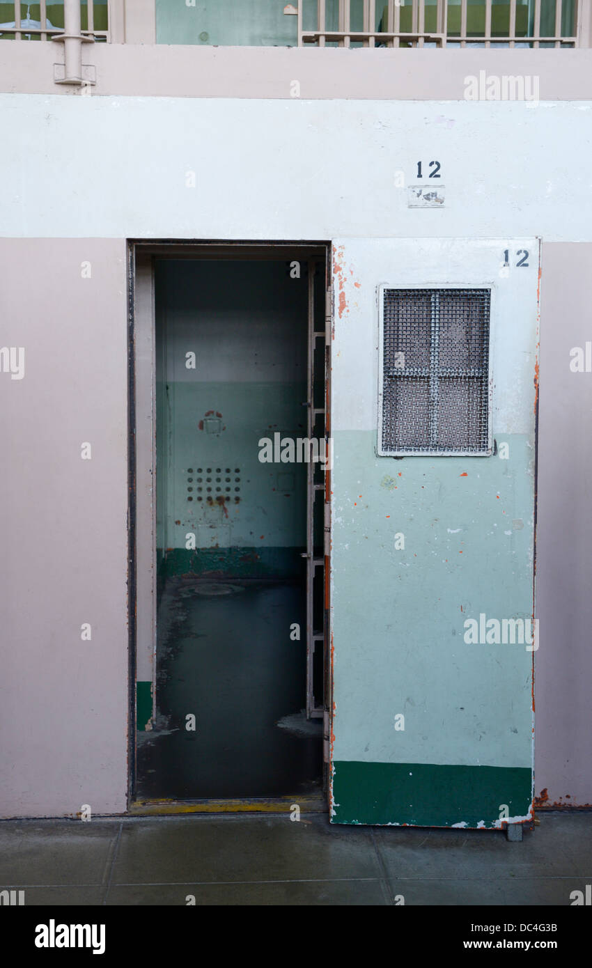 Alcatraz Penitentiary prison cell for solitary confinement - Stock Image