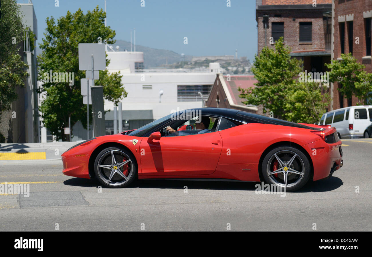 ferrari on a street in san francisco, ca stock photo: 59107633 - alamy