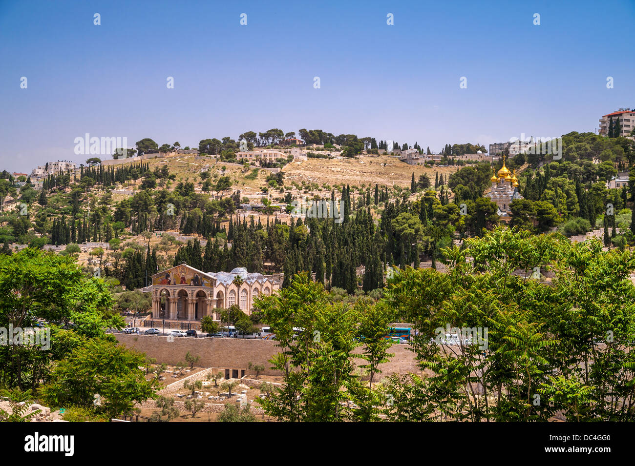 View on Mount of Olives in Jerusalem, Israel - Stock Image