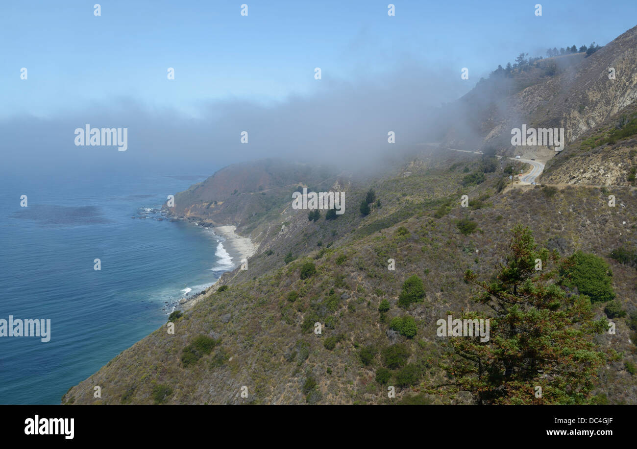 Pacific Coast Highway near Big Sur - Stock Image
