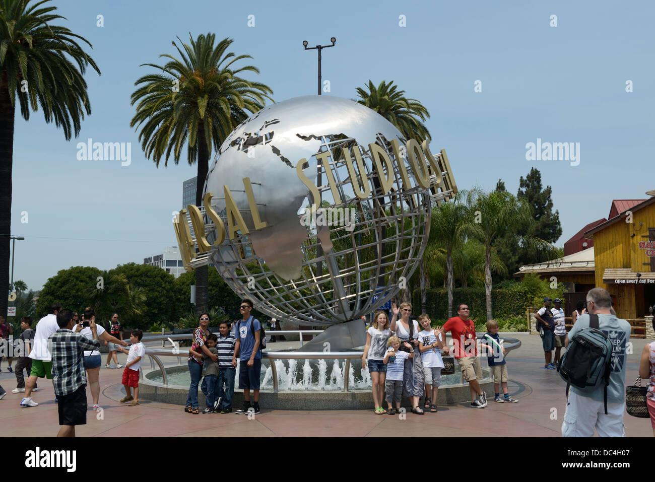 Universal Studios entrance, Hollywood, CA - Stock Image