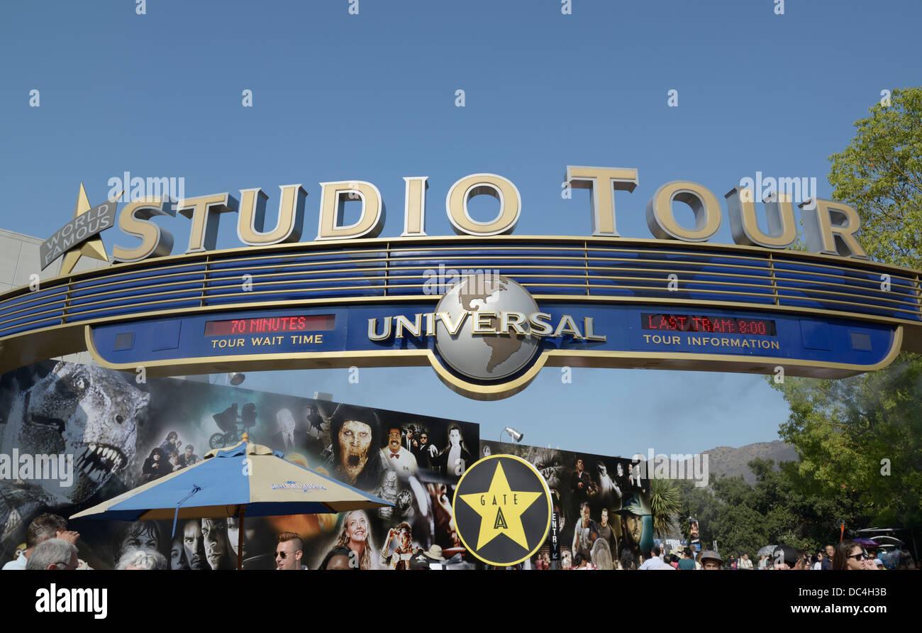Universal Studios tour entrance, Hollywood, CA - Stock Image