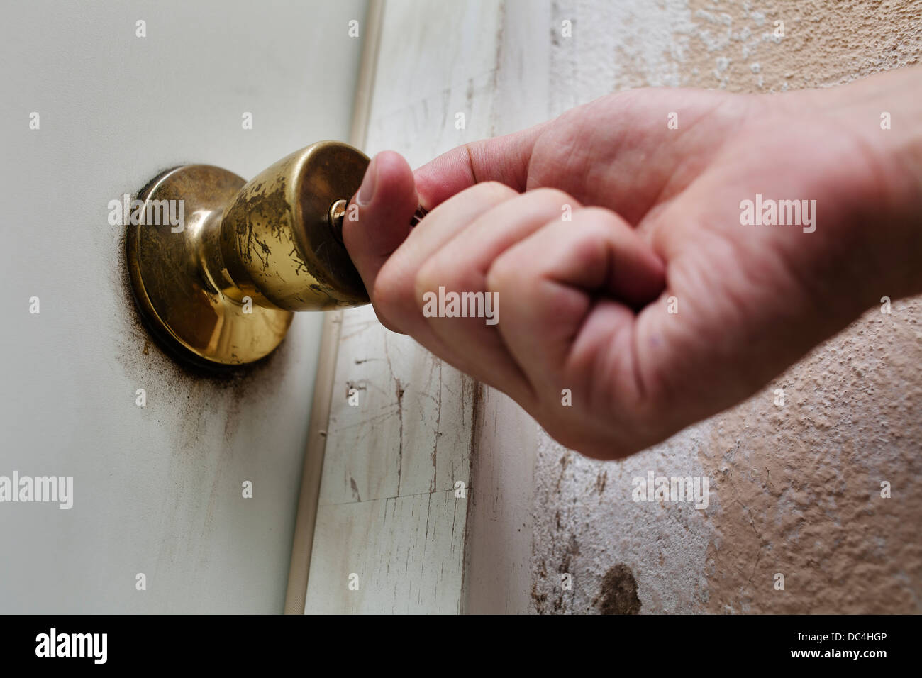 Unlocking or locking a door. & Unlocking or locking a door Stock Photo: 59108582 - Alamy