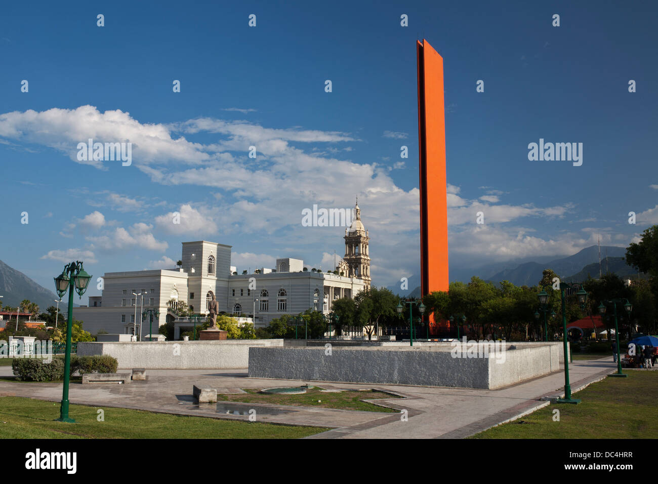 The Macroplaza in the centre of Monterrey, Mexico. Stock Photo