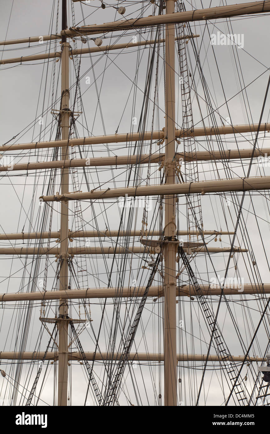 Masts of the Pommern - Stock Image