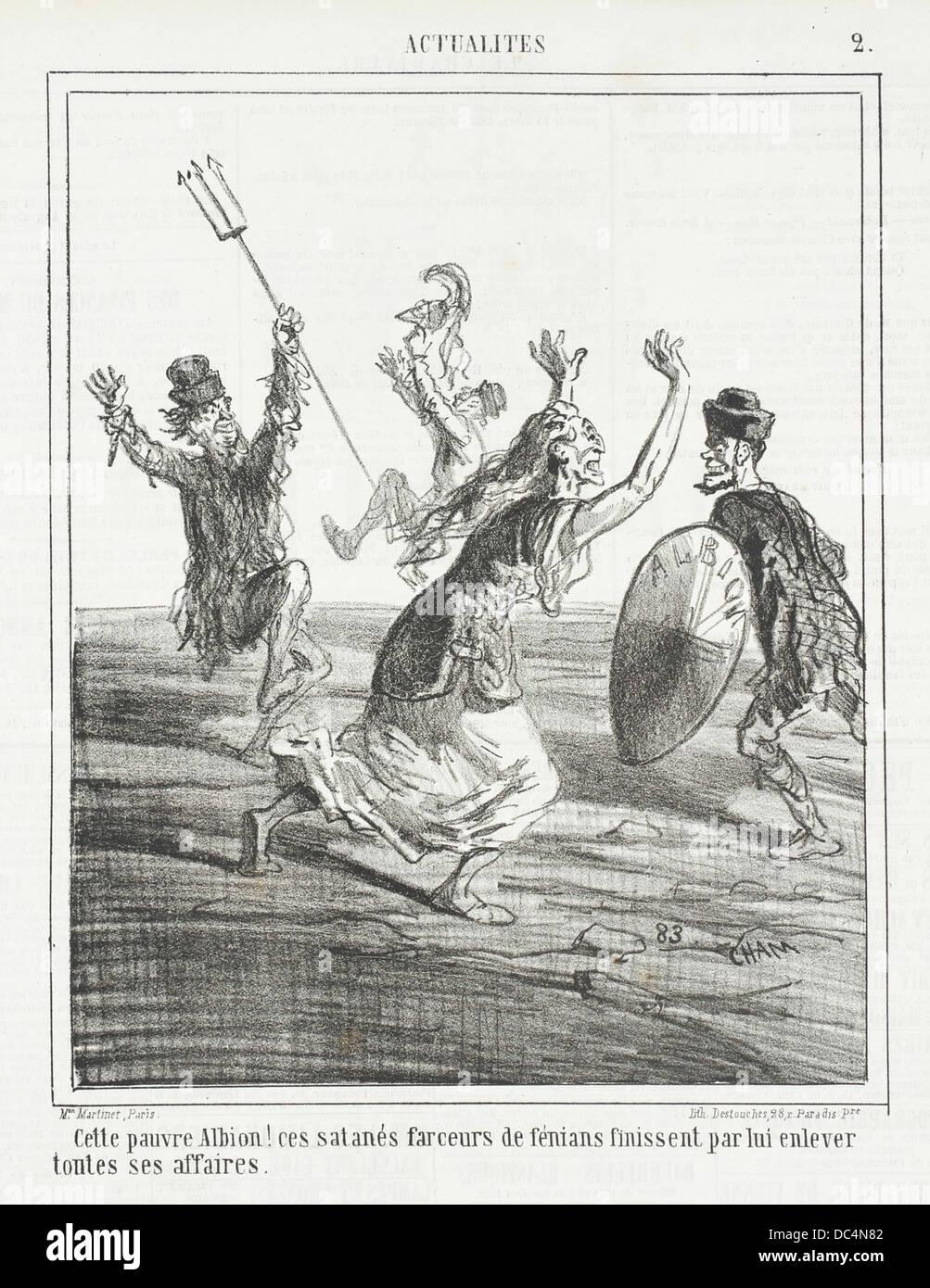 Cette pauvre Albion! Ces satanes farceurs de fenians finissent par lui enlever toutes ses affaires. M.76.132.29 - Stock Image